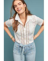 Meadow Rue - Paula Lace-trim Shirt - Lyst