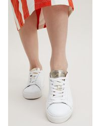 SELECTED - Morgana Leather Trainers - Lyst