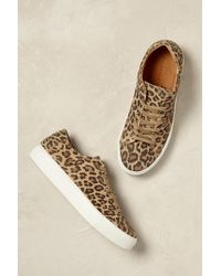 SELECTED - Tayla Leopard Trainers - Lyst
