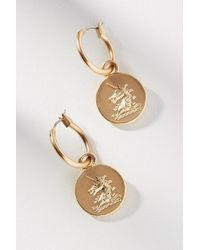 Anthropologie - Royal Coin Drop Earrings - Lyst