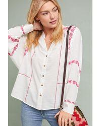 Seen, Worn, Kept - Stacy Embroidered Buttondown Shirt - Lyst