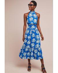 Anthropologie - Jaya Floral-print Midi Skirt - Lyst