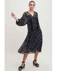 d59e8fd4d096 Anthropologie - Ruffled-printed Peasant Midi Dress - Lyst