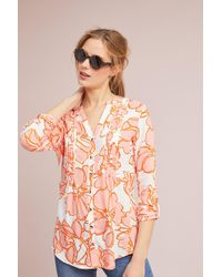 Maeve - Pintucked Floral Shirt - Lyst