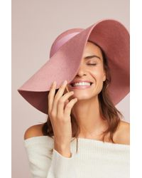 Anthropologie - Blush Floppy Hat - Lyst