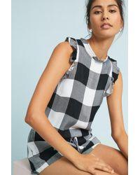 Cloth & Stone | Gingham Romper | Lyst