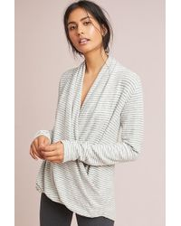 Pure + Good - Brushed Fleece Stripe Pullover Top - Lyst