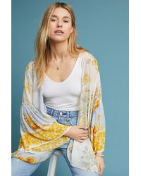 Anthropologie - Jordin Floral Kimono - Lyst