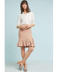 Anthropologie - Wrapped Tweed Skirt - Lyst