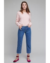 Just Female - Oriah Cropped & Frayed Jeans - Lyst