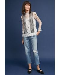 Anthropologie - Lucy Polka-dot Top - Lyst