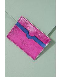 Anthropologie - Two-tone Metallic Leather Cardholder - Lyst
