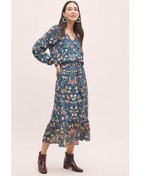 74670f3e09a2 Anthropologie - Kachel Winter Floral-print Maxi Dress - Lyst