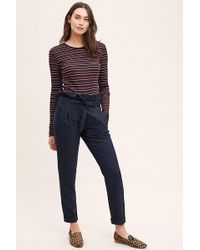 Anthropologie - Pinstriped Paperbag-waist Trousers - Lyst