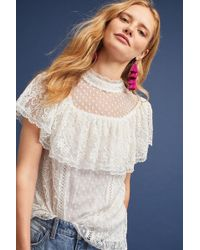 Feather & Bone - Maddalyn Lace Blouse - Lyst