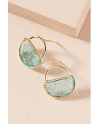 Anthropologie - Cadence Petite Hooped Post Earrings - Lyst