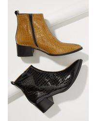 Miista - Elin Snake-effect Patent Leather Ankle Boots - Lyst