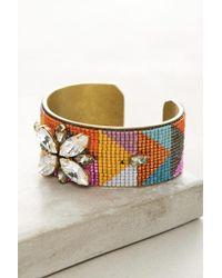 Jill Golden - Symmetry Beaded Cuff Bracelet - Lyst
