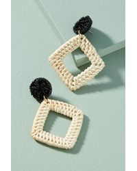 Anthropologie - Greenport Wicker Drop Earrings - Lyst