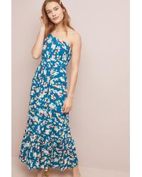 5e7fc9c42f87 Anthropologie - Gemma Floral-print One-shoulder Maxi Dress - Lyst