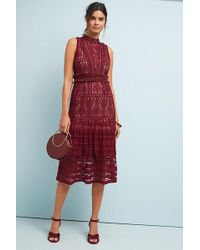 Anthropologie - Maybel Ruffled-tiered Lace Dress - Lyst