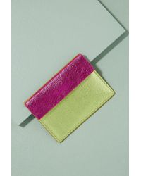 Anthropologie - Two-tone Metallic Leather Cardholder - Lyst