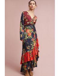 0a4e0e1682ca5 Lyst - Yumi Kim Zooey Silk Midi Dress in Blue