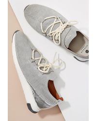 H by Hudson - Seville Leather-trimmed Suede Trainers - Lyst