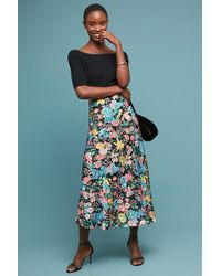 Anthropologie - Gemma Printed Bias-cut Midi Skirt - Lyst
