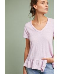 03a5f7b59318d Lyst - Left Of Center Slubby Cutout Tee in Pink