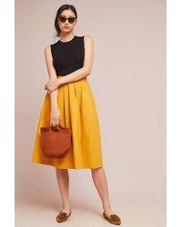 Anthropologie - Golden A-line Skirt - Lyst