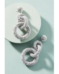 Suzanna Dai - Triple Tiered Hoop Drop Earrings - Lyst