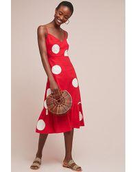 cafaf1242573 Anthropologie Gerrie Polka-dot Wrap Dress in Blue - Lyst