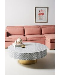 Anthropologie Targua Mother-of-pearl Coffee Table - White
