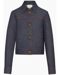Edun - Indigo Denim Cropped Jacket - Lyst