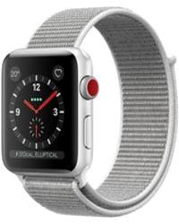 Apple - Watch Series 3 Gps + Cellular 38mm Aluminium Case Silver With Seashell Sport Loop - Lyst