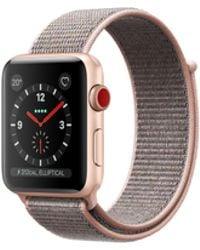 Apple - Watch Series 3 Gps + Cellular 38mm Aluminium Case Gold With Pink Sand Sport Loop - Lyst