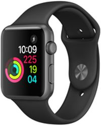 Apple - Watch Series 2, 38mm Space Grey Aluminium Case - Black Sport Band - Lyst