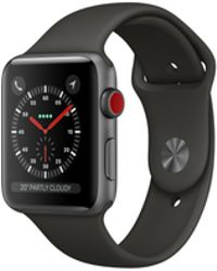Apple - Watch Series 3 Gps, 38mm Space Grey Aluminum Case With Grey Sport Band - Lyst