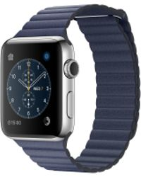 Apple - Watch Series 2, 42mm Stainless Steel Case With Midnight Blue Leather Loop - Large - Lyst