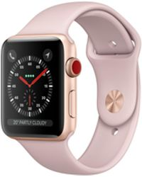 Apple - Watch Series 3 Gps + Cellular 38mm Aluminium Case Gold With Pink Sand Sport Band - Lyst