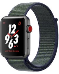 Apple - Watch Nike+ Gps + Cellular 42mm Aluminium Case Space Grey With Midnight Fog Nike Sport Loop - Lyst