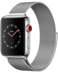 Apple - Watch Series 3 Gps + Cellular, 42mm Stainless Steel Case With Milanese Loop - Lyst