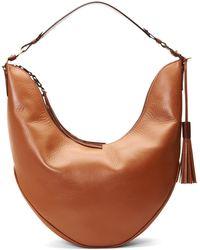 Aquatalia | Slouchy Leather Hobo | Lyst
