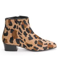 Aquatalia - Fuoco Leopard-print Booties - Lyst