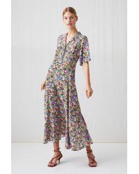 ARKET - Floral Silk Dress - Lyst
