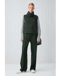ARKET - Elastic Waist Wool Trousers - Lyst