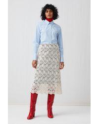 ARKET - Cotton Lace Skirt - Lyst