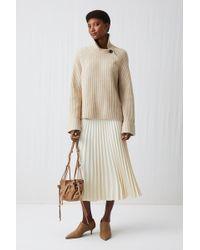 ARKET - Pleated Crepe Skirt - Lyst