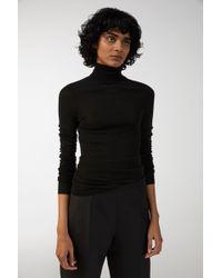 ARKET - Sheer Merino Wool Roll-neck - Lyst